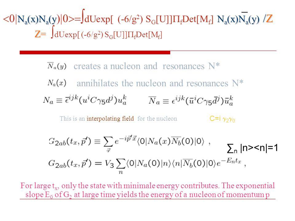 Na(x)Na(ydUexp[ (-6/g2) SG[U]]fDet[Mf] Na(x)Na(y) /Z